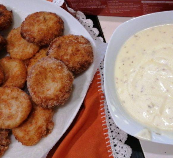 Bocaditos de patata y cangrejo