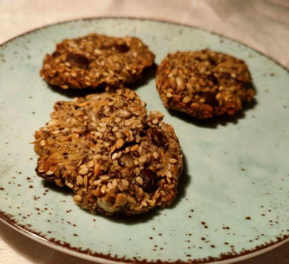 Galletas de semillas con pepitas de chocolate